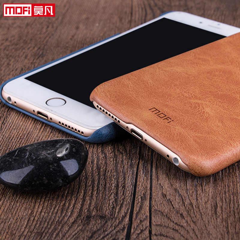 Mofi para iphone 6s caso de couro marrom capa 4.7 para apple iphone 6 caso acessórios preto proteção luxo original funda