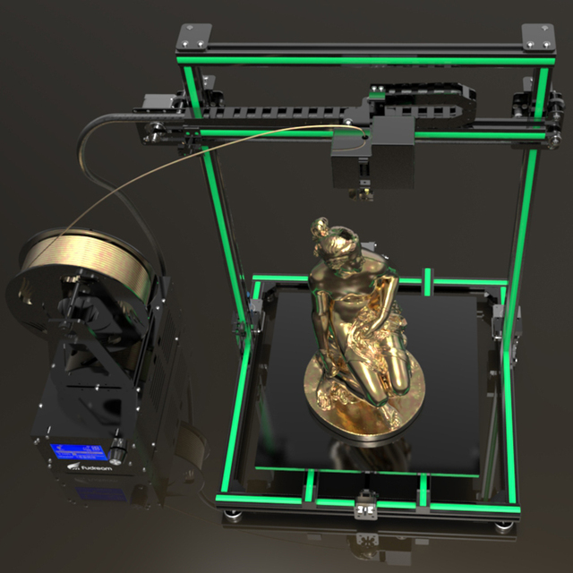 Metal frame 3d printer Fudream DIY printer 3d kit with large printing size and cheap price 5