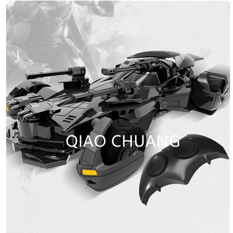 DC Justice League Batman Telecar Electrical Power 1:18 RC Batmobile PVC Action Figure Collectible Model Toy Gift RETAIL BOX G32 anime playarts dc justice league batman batwoman pvc action figure collectible model toy chirstmas gift 25cm