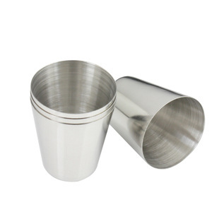 10pcs/lot stainless steel food beer cup liquor cup portable wine cup BBQ grill beverage cup