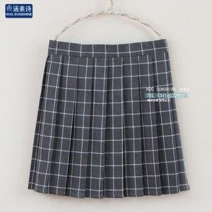 Image 3 - 2020 delle donne di Harajuku A Vita Alta Pannello Esterno di Stile College Plaid Pieghettato del Pannello Esterno Studente Femminile Giapponese Kawaii Gonne Per Le Donne