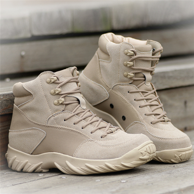 Men Hiking Shoes Black Combat Boots Male Outdoor Sports Trekking Shoes Wearable waterproof Sneakers Men Desert Tactical Boots