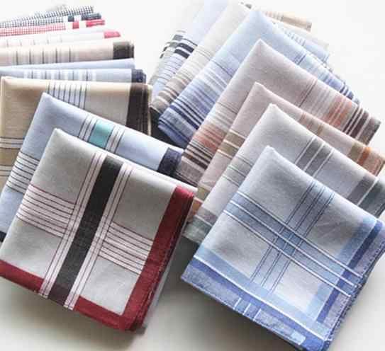 Оптовая продажа, розничная продажа, мужские хлопковые повседневные носовые платки, клетчатая классическая ткань, платок с карманом, разные цвета, низкая цена