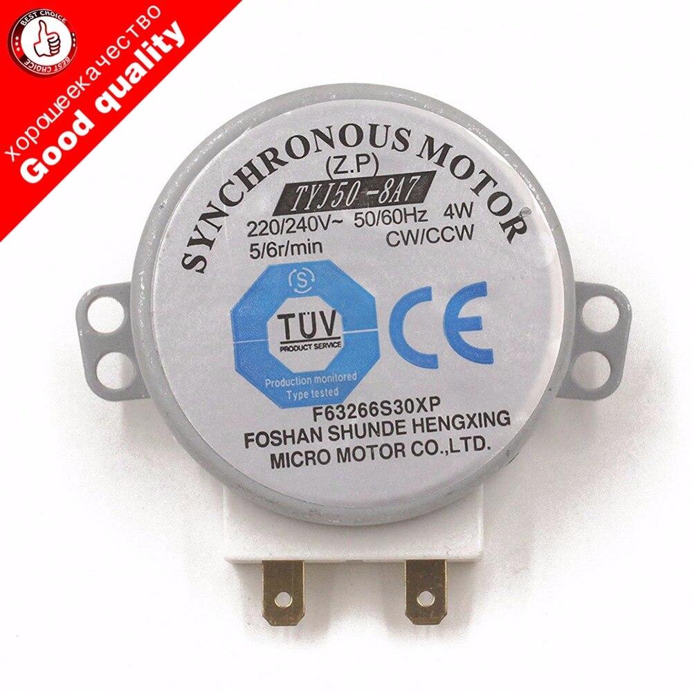 2018 AC 220-240 V 4 W 6 TR/MIN 48mm Dia Micro Moteur Synchrone pour Ventilateur À Air Chaud 50/60Hz CW/CCW TYJ50-8A7 plateau de four à micro-ondes moteur