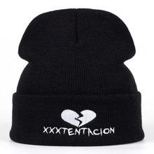 2018 new Brand XXXTentacion Pattern Hat Women Knitted Winter Hat Fashion Skullies Beanies men Wool Winter Cap Thicker Caps