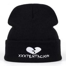 2018 nuovo di Marca XXXTentacion Modello Delle Donne Del Cappello di  Inverno Lavorato A Maglia Cappello di Moda Skullies Berrett. c69341767e36