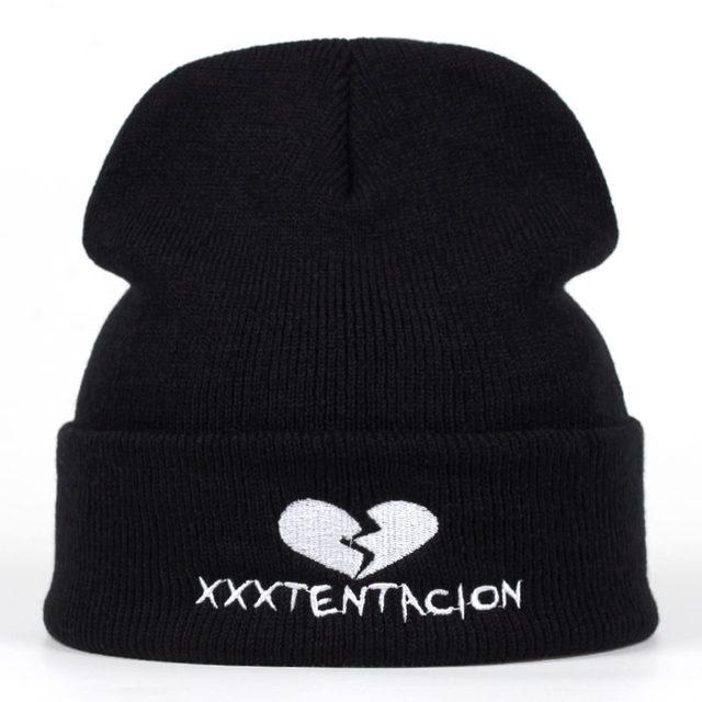 74fc1abf3 US $4.79 20% OFF 2018 new Brand XXXTentacion Pattern Hat Women Knitted  Winter Hat Fashion Skullies Beanies men Wool Winter Cap Thicker Caps-in ...