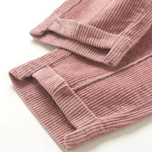 New fashion ladies large size corduroy Korean version of the loose retro Harlan pants leisure solid color Pencil pants