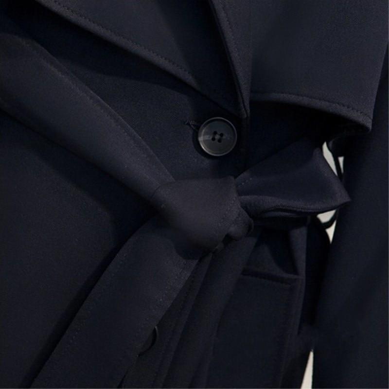 Longue vent Mode Solide Slim Pour Femme Femmes Printemps Coupe Les Nouvelle 2018 Manteaux Boutonnage À Bleu Automne Manteau Double HnTZqwv0