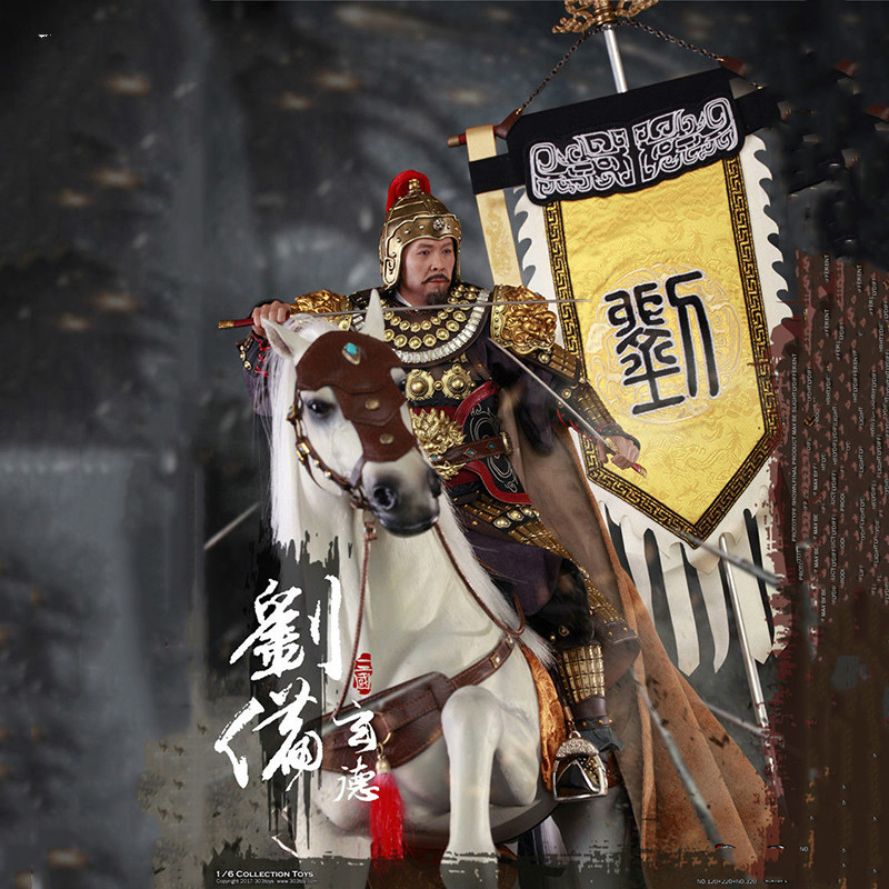 For collection 1/6 Scale 303TOYS Three Kingdoms Series Liu Bei and War Horse with Flag Full Set Three Kingdoms Figure
