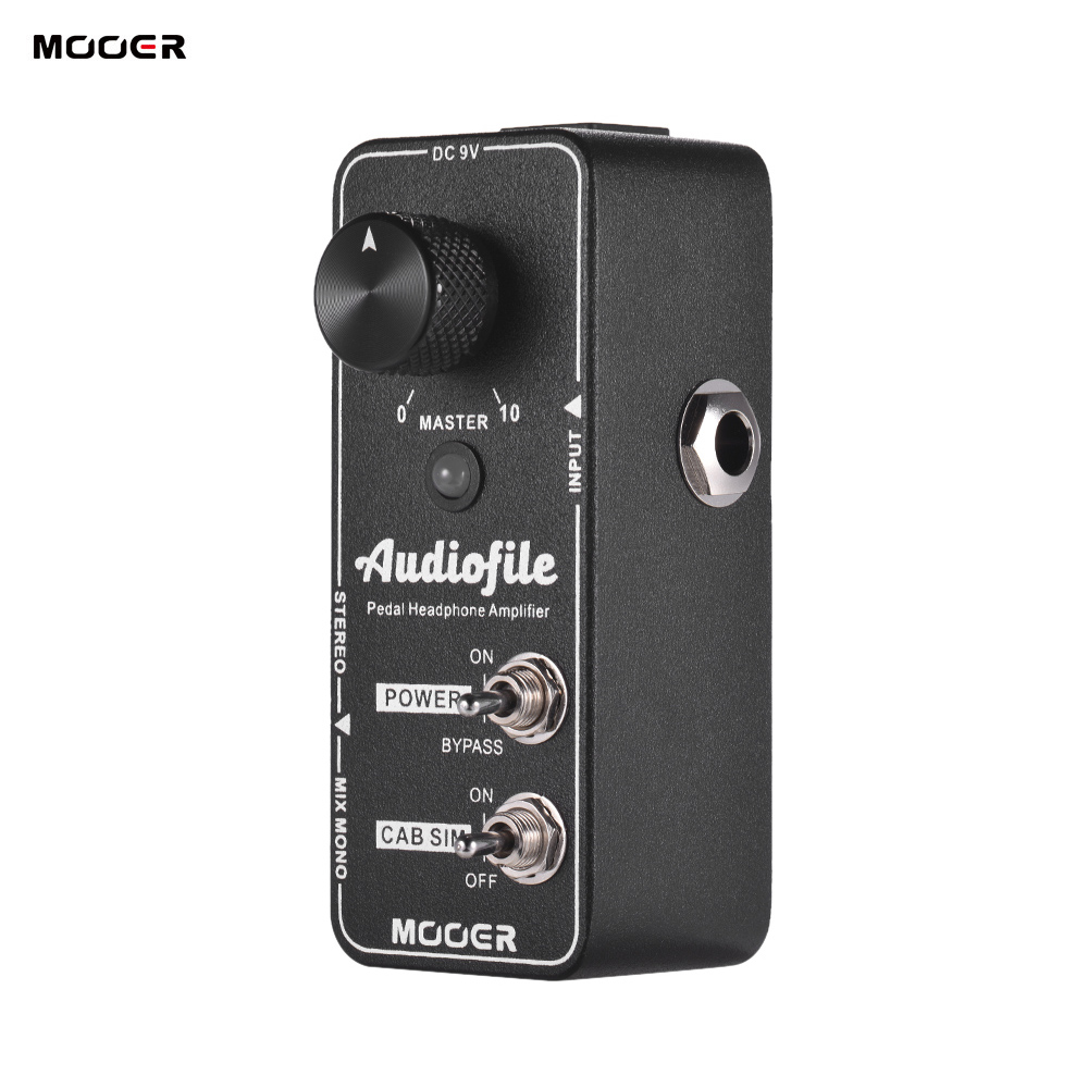mooer audiofile guitar pedal headphone amplifier guitar effect pedal built in analog speaker. Black Bedroom Furniture Sets. Home Design Ideas