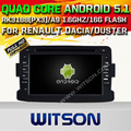 WITSON Android 5.1 Quad Core palyer DO CARRO DVD para RENAULT DUSTER RÁDIO STEREO SAT NAVI + 1024X600 HD + DVR/WIFI/3G + DSP + RDS + 16 GB flash