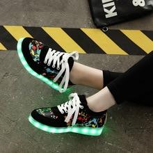 2017 Украина светящиеся кроссовки usb зарядки корзина водить малыша shoes with light up светящиеся snaekers shoes для девочек и мальчиков LED тапочки