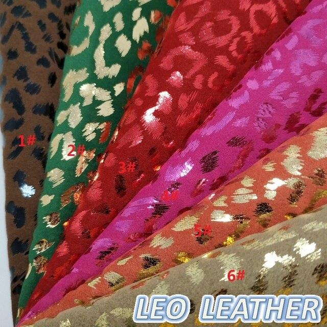 1 pcs 21X29 cm Leopard Impresso Em Tecido De Veludo Tecido de Couro para bolsas e sapatos DIY acessórios sofá 3s04