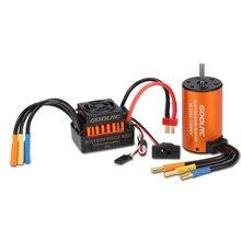 GoolRC Upgrade Wasserdichte 3660 3300KV Bürstenlosen Motor mit 60A ESC Combo Set für 1/10 RC Auto Lkw