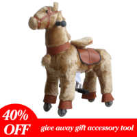Brown Ride On Horse Toy for 3-7 Years Baby Boys Girls World's First Simulated Riding Horse Toy Kids No Electric Mechaincal Horse