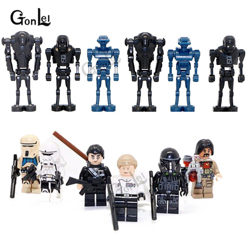 NEW 12Pcs/set Starwars Rogue One TX20 K-2SO Droid Darth Hovertank Imperial Shore Tropper Building Blocks Toy Best Christmas gift