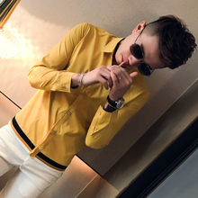 Brand New Men Shirt Spring Long Sleeve Mens Dress Shirts Sol