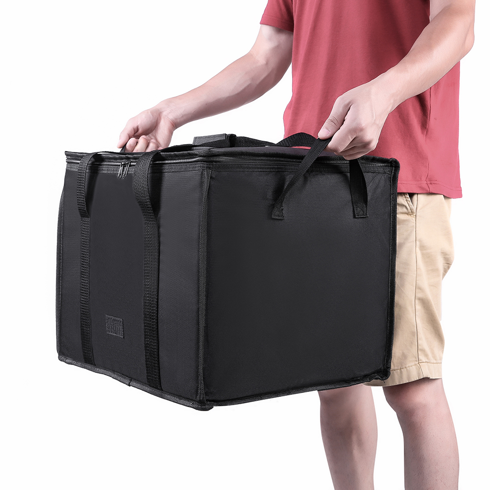 Cherrboll 58L Reusable Grocery Insulated Cooler Bag Grocery Tote Large Shopping Box Insulated Bags With Zippered Top
