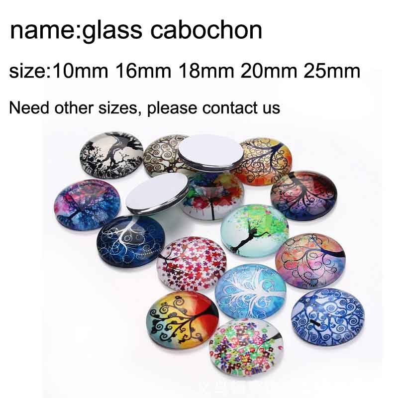 10mm 12mm 14mm 16mm 20mm 25mm 352 12pcs lot Cat Mix Round Glass Cabochons Jewelry Findings 18mm Snap Button Charm Bracelet in Jewelry Findings Components from Jewelry Accessories