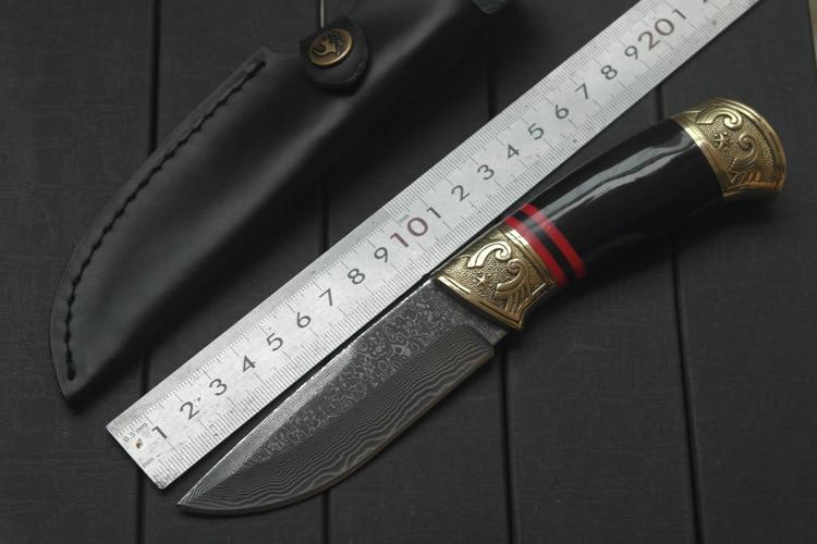 Luxury Handmade Damascus Steel font b Tactical b font Hunting font b Knife b font Fixed