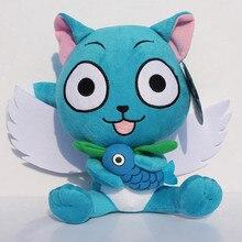 Cartoon Fairy Tail Happy With Fish Plush Toys Stuffed Dolls Soft Baby Doll Retail 1pcs Free