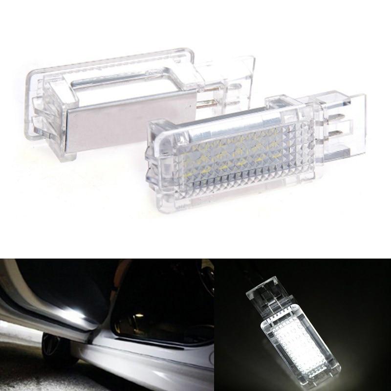 2x Error Free 18 LED Courtesy Door Light Car Lamp Source fit for Mercedes Ben z W203 Class SLK GLK W209 R171 SLR W240 VIANO W639