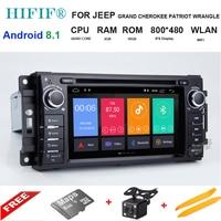 Quad Core Android 8.1 Car DVD GPS Radio Navigation For Jeep Cherokee Compass Commander Wrangler/DODGE Caliber/Chrysler C300 SWC