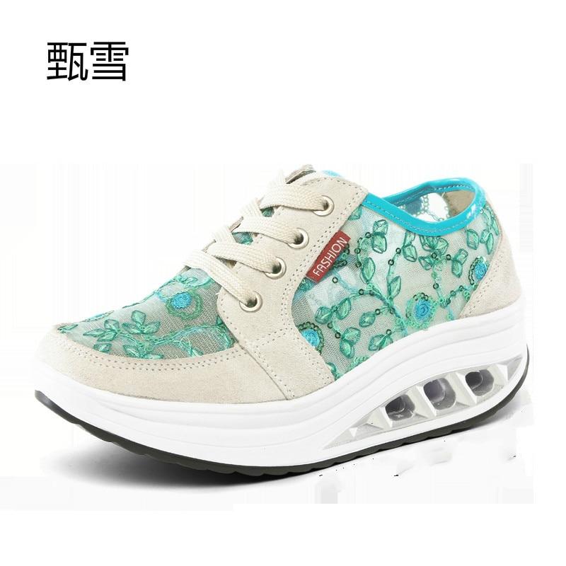 Net Chaussures rose 123 Respirant De Chaussures Casual Et Printemps 2017 Ciel Femmes Mode D'été Secousse Pu Hwzq7x8R