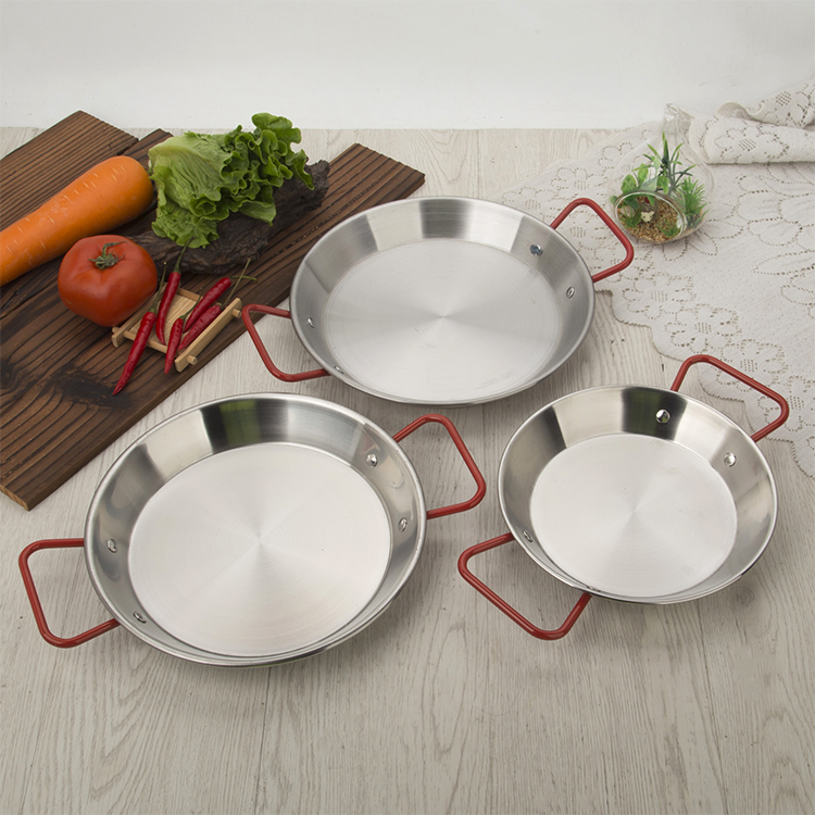 good quality Spanish paella pan seafood dish Stainless steel Korean fried chicken dish Cheese cooker