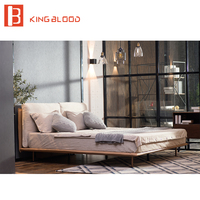 1.5 or 1.8m bed leather material for bedroom set designs