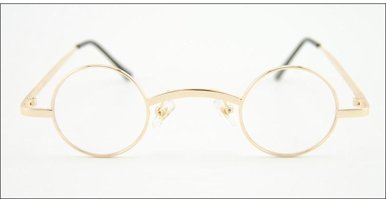 eeb86f20041 Cubojue 36mm Small Round Glasses Men Women Steampunk 80s 70s ...