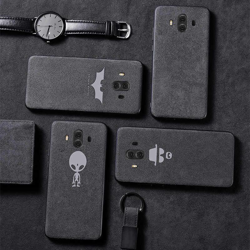 Funda de cuero de ante de lujo para Huawei P20 P30 Mate 20 Pro funda suave Mate Nova 3 3i 4 5 Honor 10 Lite 20 8X carcasa Coque