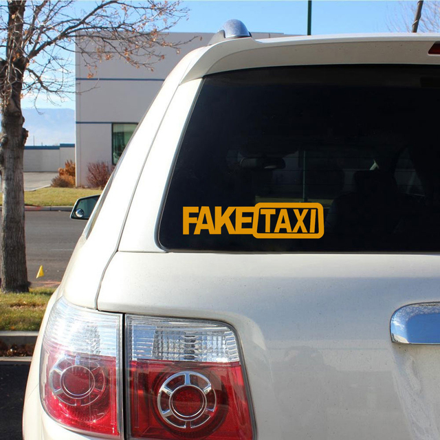 Car Styling Fake Taxi Car Decals Funny Reflective Car Stickers And Decals 20x5cm Window Auto Sticker