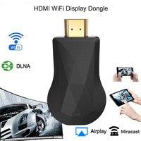 HDMI Wi-Fi дисплей ключ YouTube Netflix беспроводной адаптер ТВ-Палка для Chromecast 2 3 хром кром литой Cromecast 2