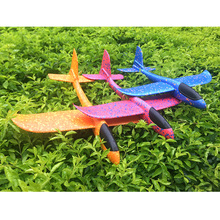 2018 DIY Hand Throw Flying Glider Planes Toys For Children Foam Aeroplane Model Party Bag Fillers Plane Game