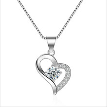 Everoyal Top Quality Silver 925 Girls Necklace Jewelry Charm Zircon Heart Pendant Necklace For Women Accessories Hot Lover Gift charm zircon purple heart pendant necklace for women accessories fashion silver 925 girls jewelry necklace female birthday gift