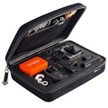 Acessórios gopro tamanho médio caixa de eva rígido bag para go pro hero 5 4 3 + 2 3 1 yi xiao mi sjcam sj4000 action camera gocase