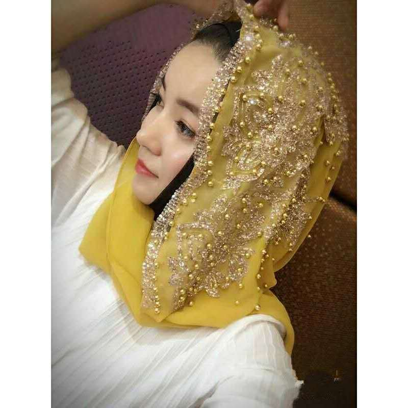 African Headwear For Women African Headwrap Women Chiffon Beading Traditional Headtie Scarf Turban Muslim Islamic 170*70