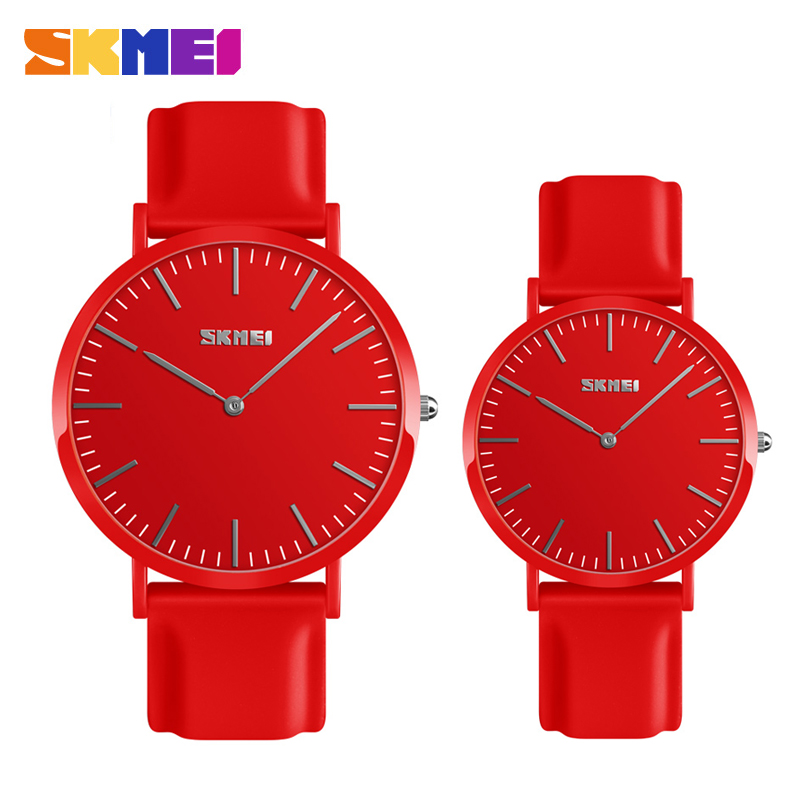 SKMEI Couple Lovers Quartz Watch Ultra thin Lover's