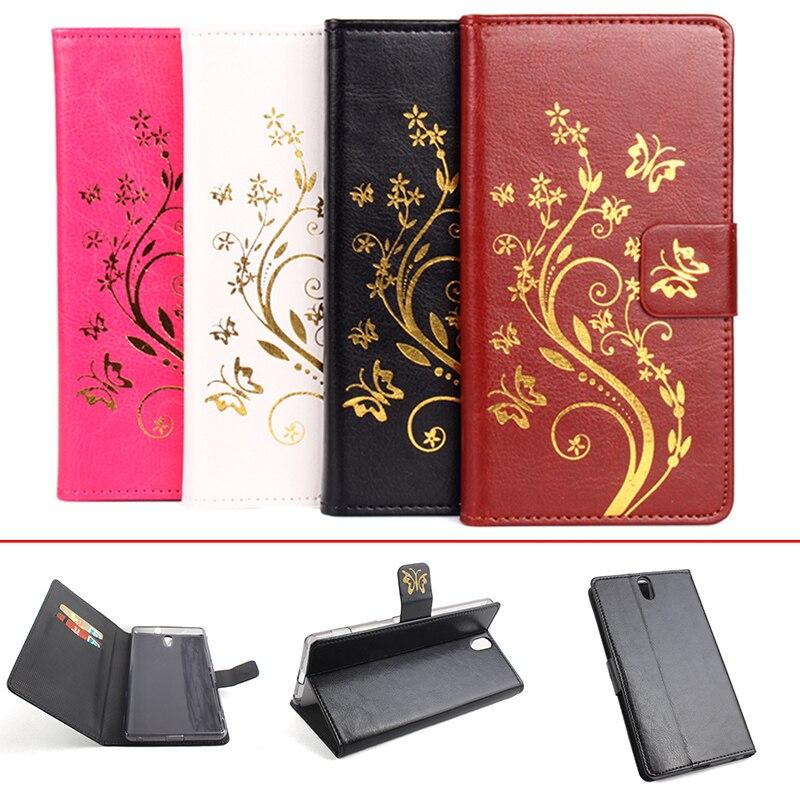 4d62cc437d Para Sony Xperia C5 ultra/dual E5553 E5506 E5533 caso moda Magnetic Flip  cartera cubierta de cuero protectora para Xperia c5 ultra