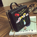 women bags embroidery flower handbag high quality chain shoulder crossbody bag mini evening party bag famous brand DG makeup sac