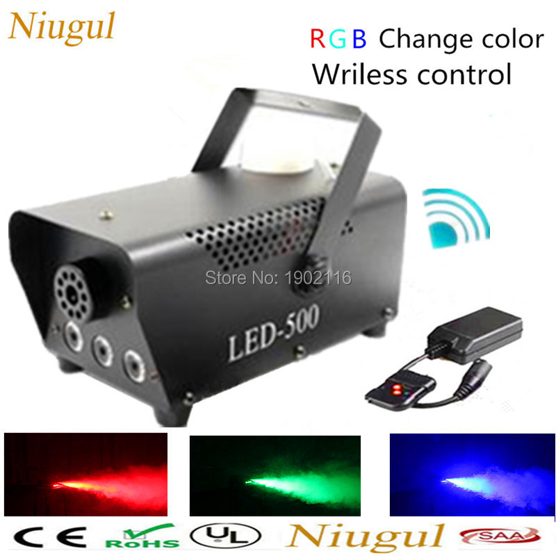 2018 RGB chage color Wireless control LED 500W smoke machine/LED fog machine /500W LED fogger/stage equipments LED smoke machine