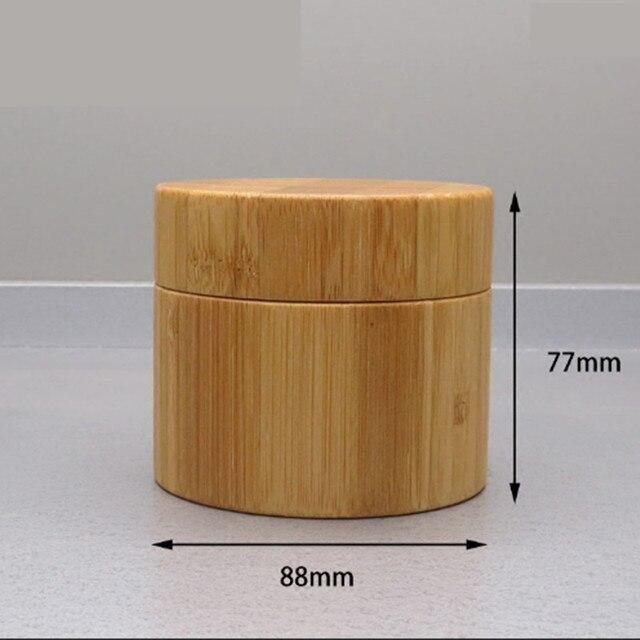 250g di bambù contenitore di legno di Plastica Vasetto di Crema, vasetti di crema di packaging cosmetico di bambù Vuota di plastica vaso Cosmetico con coperchio riutilizzo