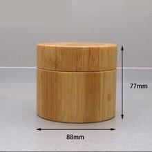 250g tre container Nhựa gỗ Kem Jar, lọ kem mỹ phẩm bao bì Rỗng tre nhựa Mỹ Phẩm jar với nắp tái sử dụng