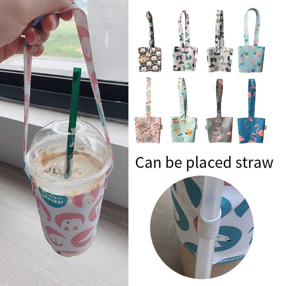 1pc Wasserdichte Portable Tasse Taschen Tasse Halter Flasche Hält Tasche Mit Stroh Halter Im Freien Liefert Multi Farben 11x29,5 cm