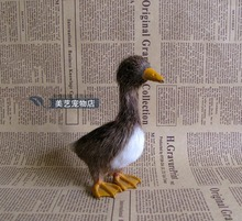 cute simulation duck toy lifelike gray wild duck doll model gift about 15x6x14cm
