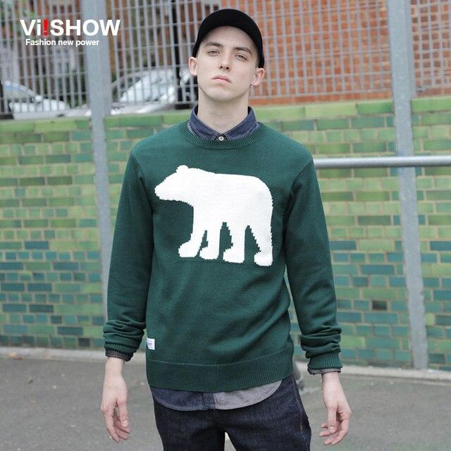 VIISHOW СВИТЕРА ДЛЯ МУЖЧИН свитера трикотаж потяните homme джерси marcas де hombre Мужские Пуловеры Шею животных отпечатано мужчины свитер