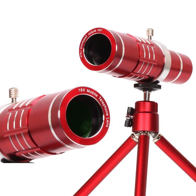 Optical Camera Self Kit 18x Manual Focus Telescope Zoom Lens+Cover Case+ Aluminum Tripod For Samsung S8 S8 Plus купить samsung nx300 kit 18 55