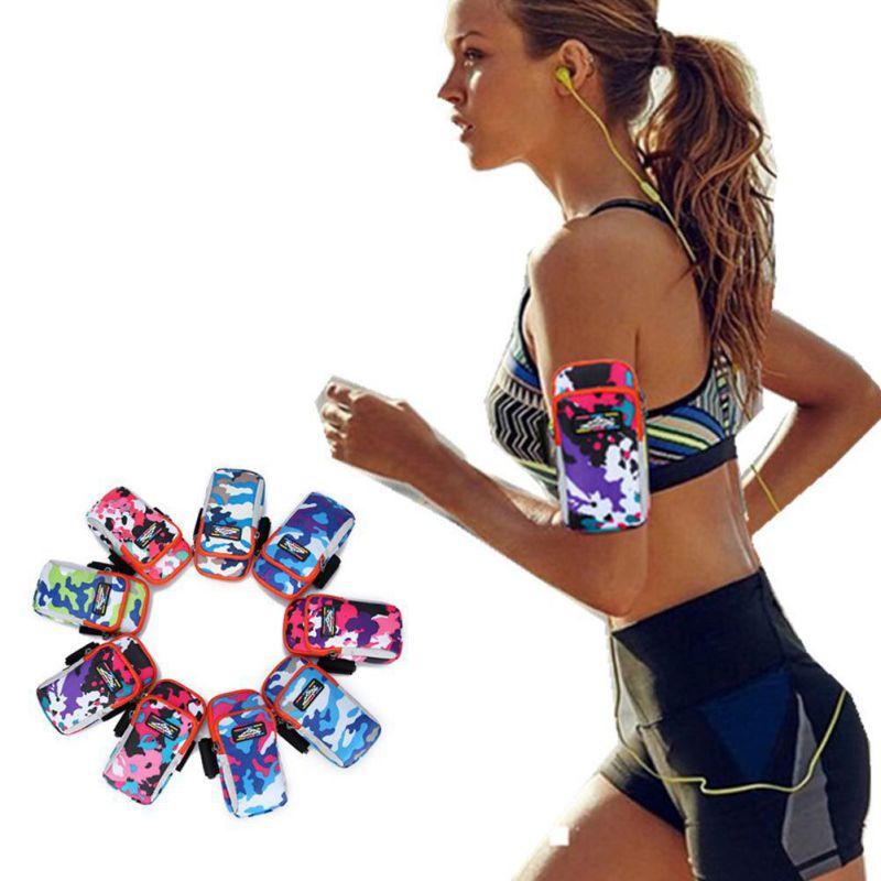 2017 Unisex Running Tasche Reise Handlich Wandern Sport Arm Gürtel Zip Fanny Pack Läuft Tasche Neue Camouflage Blau Rose Rot Grün Wasserdicht, StoßFest Und Antimagnetisch